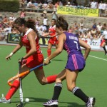 Chile vs Argentina sudamericano hockey césped femenino