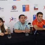 El tercer lugar es el objetivo de Chile. Así lo confirmaron Melany Cabrera, Eric Saavedra y Tomás González. (Foto: Prensa Fedegichi)