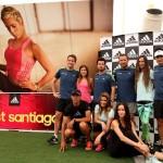 Famosos se entrenan para el Adidas Boost Santiago